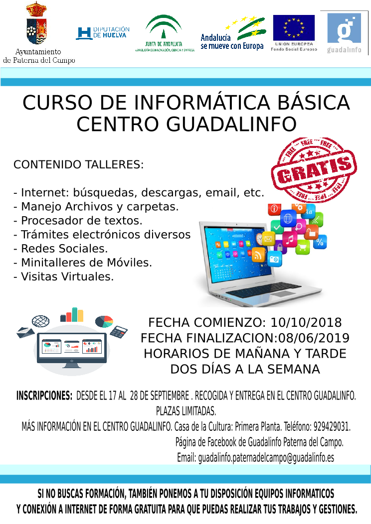 Talleres Guadalinfo 2018-2019